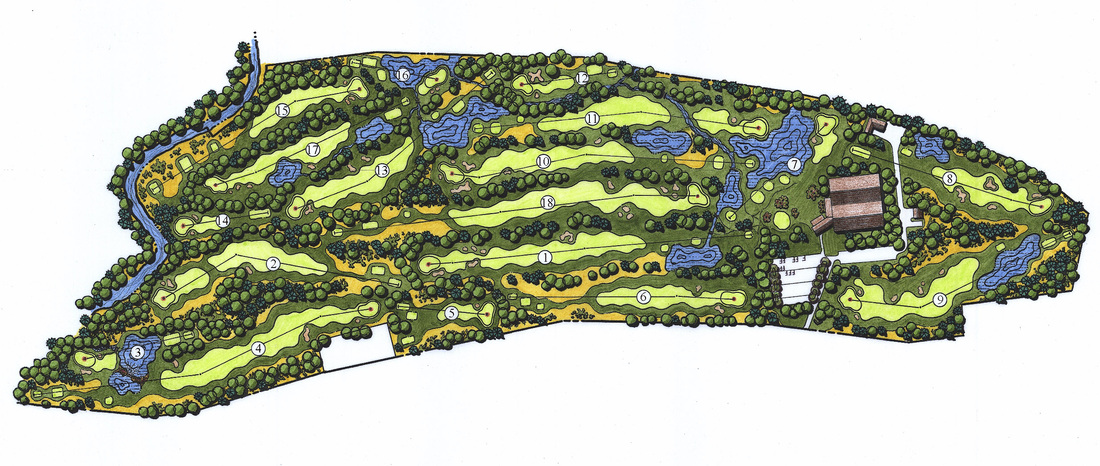Golf Course Layout  at Pine Grove Health & Country Club Camillus, NY